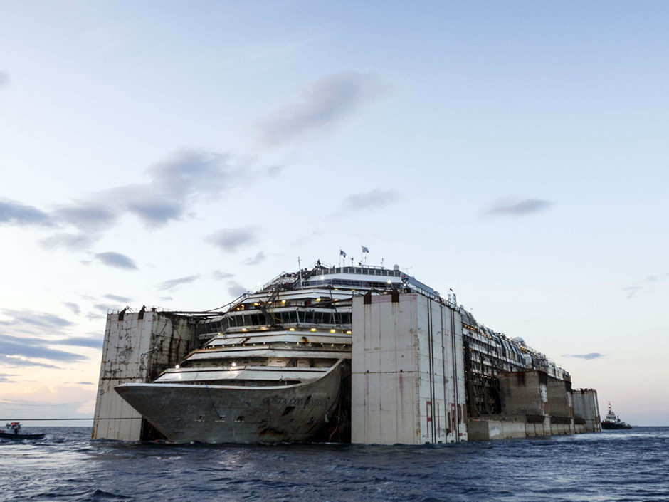 1 Costa Concordia Completes Its Voyage To The Scrap Yard
